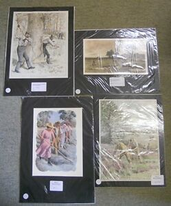 Collection-of-4-Victorian-Antique-Large-Colour-Prints-Relating-to-Farming