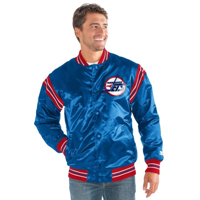 STARTER NHL mens The Enforcer Retro Satin Jacket Blue Winnipeg Jets 5X New 0c88b0ccb
