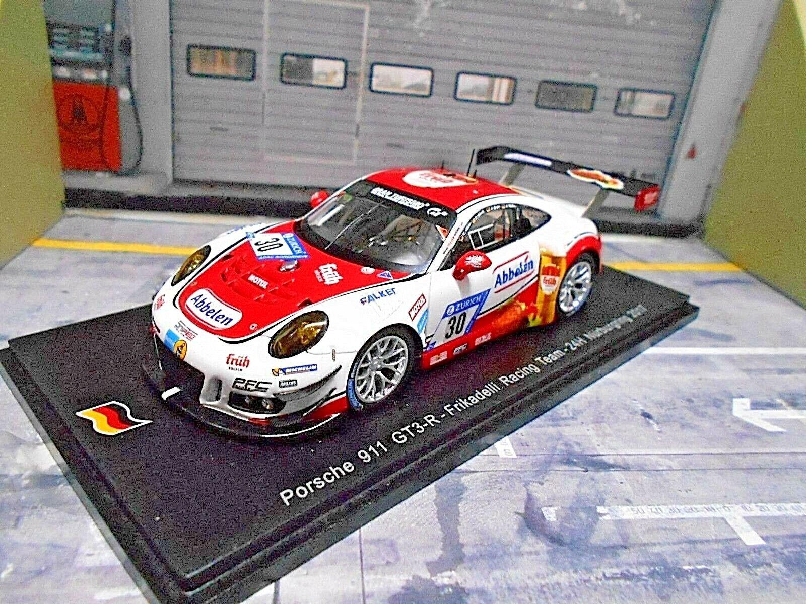 Porsche 911 991 gt3 R 24h nurburgring frikadelli 2017    30 abbelen sch Spark 1 43 3afa7b