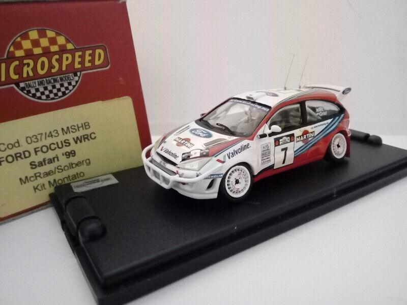 Ultimo 2018 MSPM037-43 FORD FOCUS WRC SAFARI 1999 McRAE- McRAE- McRAE- SOLBERG  7  consegna gratuita e veloce disponibile
