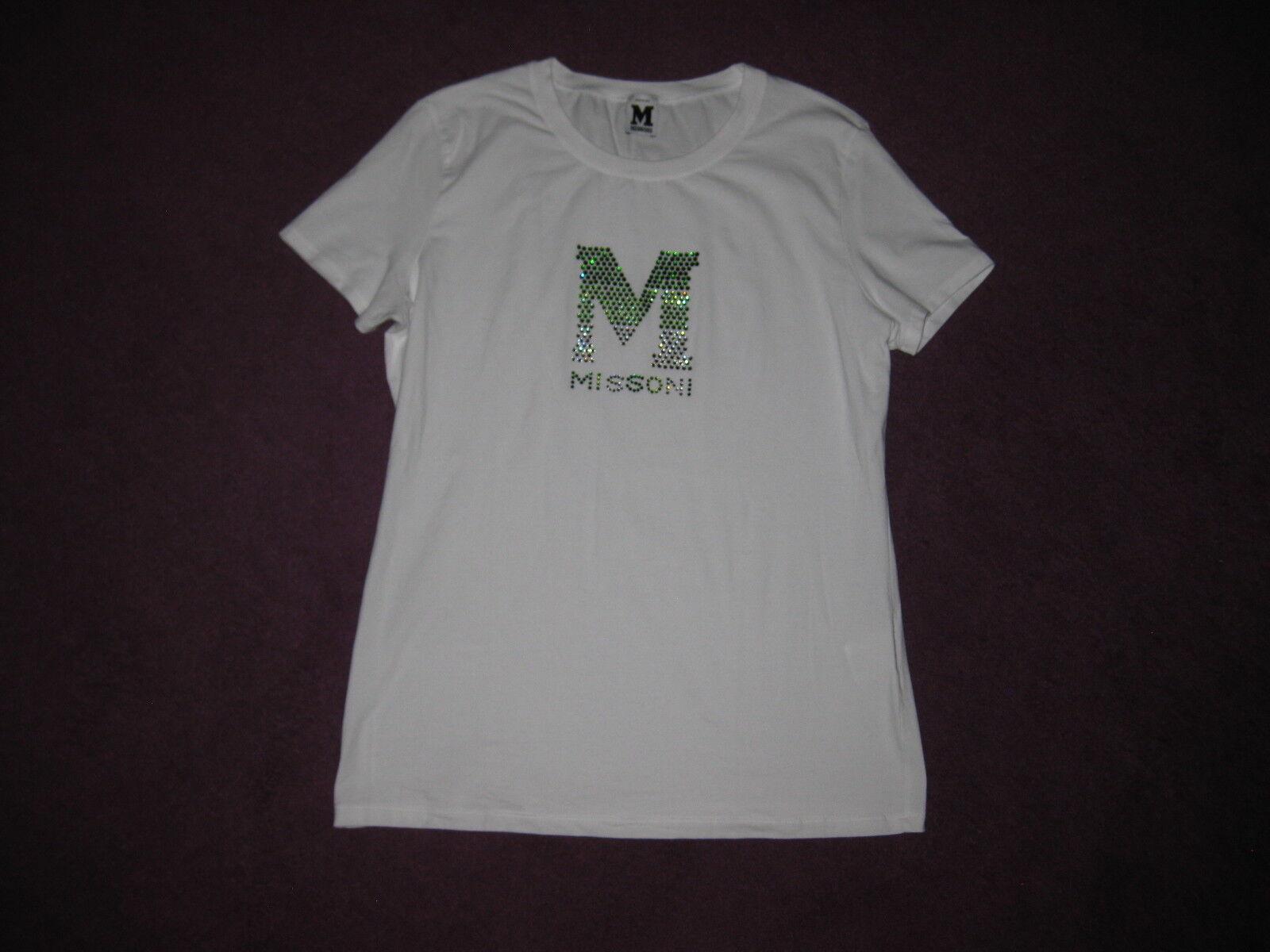 ❤️ Süßes T-Shirt weiß M MISSONI D 40 42  EDEL STRASS  NP Rar ❤️