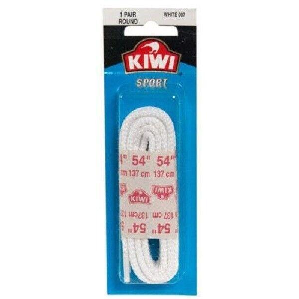 "54/"" Flat White 137 cm 6 to 7 Eyelets 1 Pair of NEW Kiwi Sport Shoe Laces"