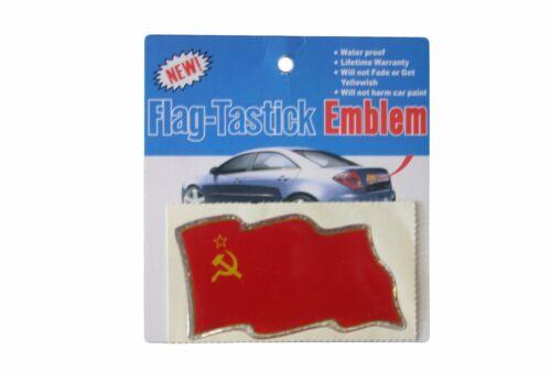 3.5.X.2 INCH USSR COUNTRY FLAG BUMPER STICKER FLAG-TASTICK EMBLEM..SIZE