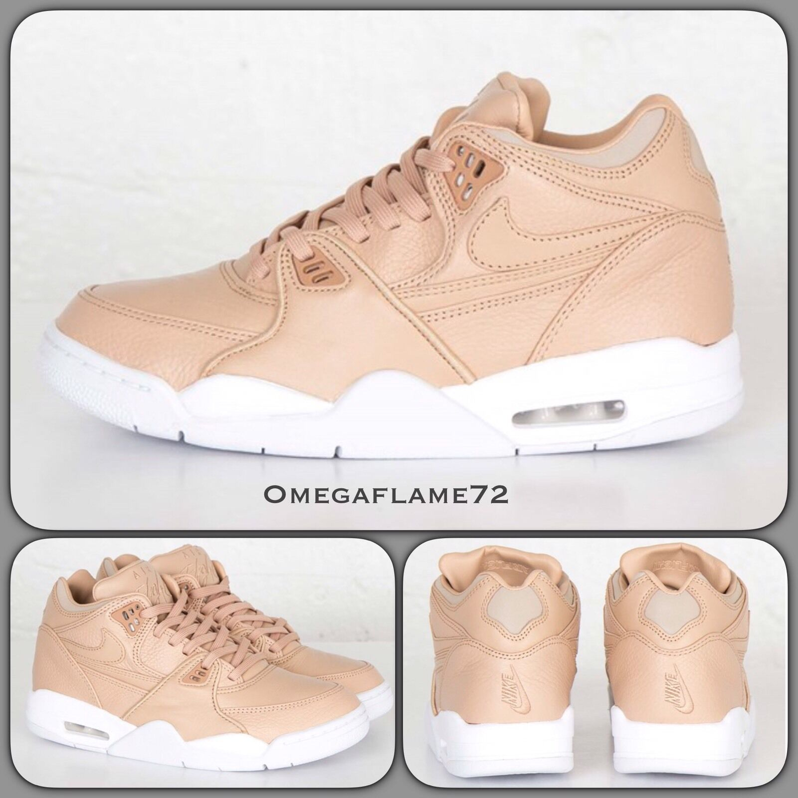 NikeLab Air Flight 89 QS Vachetta Leder 828295-200 UK 9.5 8.5 EU 43 US 9.5 UK Nike 555346