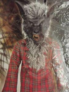 Child Werewolf Costume Dress Up Includes Shirt Arm Cuffs