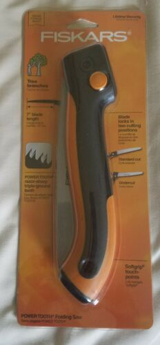 "Fiskars 92576935J 7/"" Power Tooth Softgrip Folding Saw"