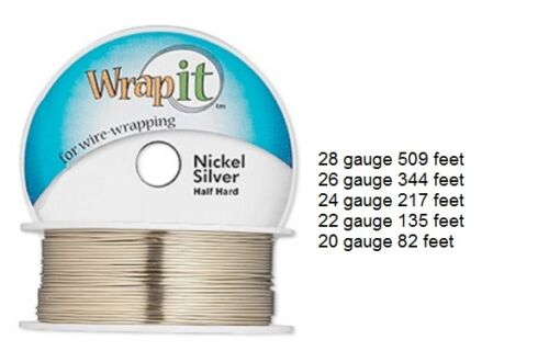 WrapIt Wrap It Nickle Silver Half Hard Wrapping Wire 28 26 24 22 20 ga Round