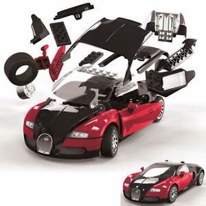AIRFIX-Quickbuild-Bugatti-Veyron-Black-Red-Car-Model-Kit-J6020
