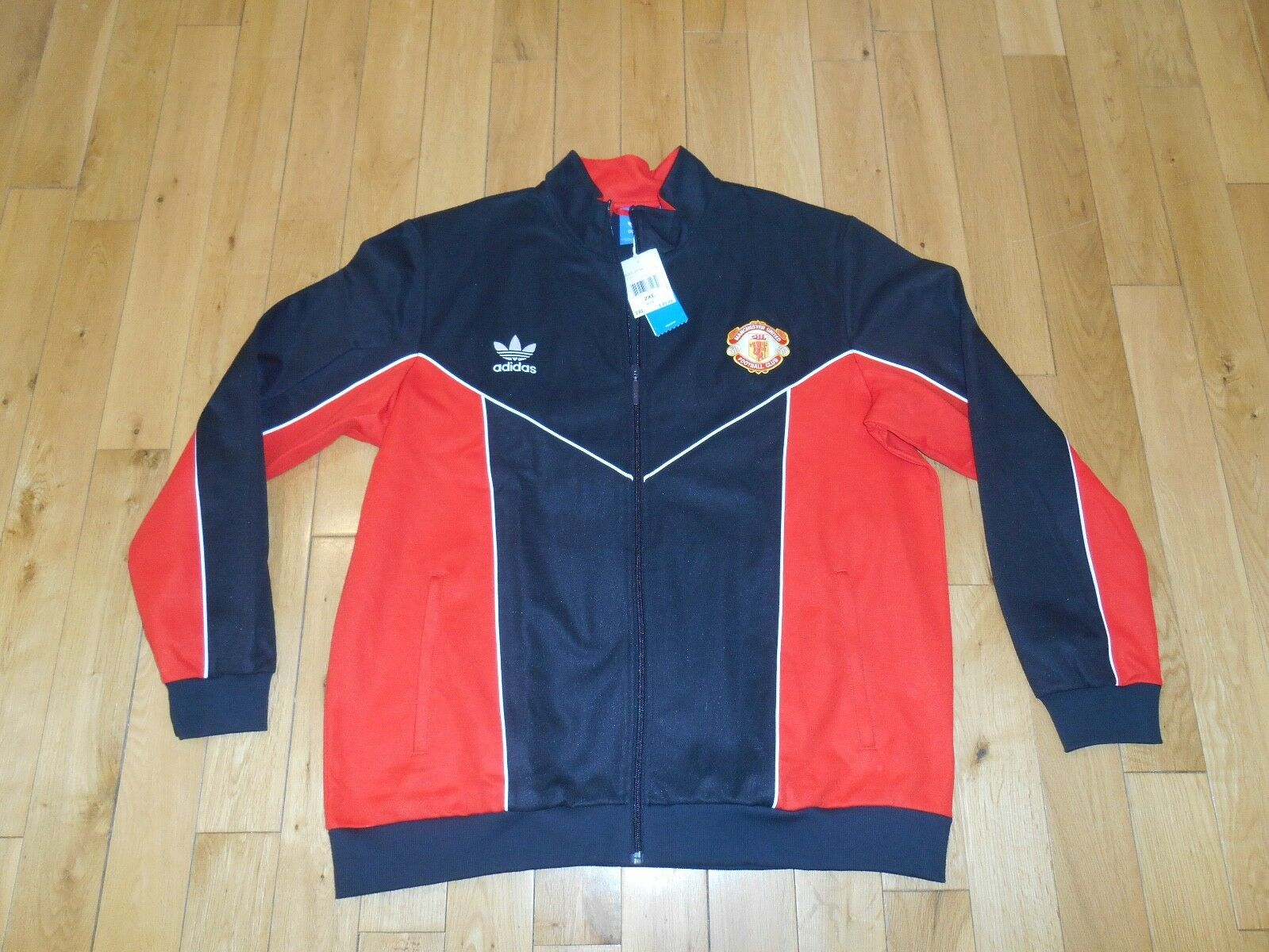 NWT Adidas Originals MANCHESTER UNITED Soccer Track Jacket Mens 2XL Football