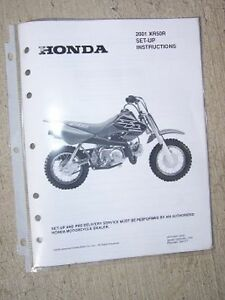 image is loading 2001-honda-motorcycle-scooter-xr50r-set-up-instruction-