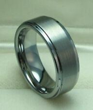 Men 8mm Titanium ring Satin Finished Wedding Band Size 9.5