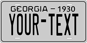 Georgia 1930 License Plate Personalized Custom Car Auto Bike Motorcycle Moped