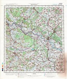 Map Of Germany 1980.Details About Russian Soviet Military Topographic Maps Wittenberge Germany Ed 1980