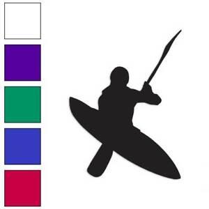 Vinyl Decal Sticker Multiple Color /& Sizes Kayaker Kayak ebn911