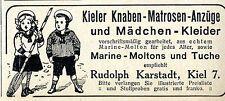 Kieler Knaben-Matrosen-Anzüge und Mädchen-Kleider Historische Annonce 1913