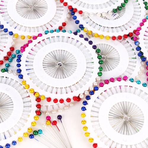 480PCS Round Head Dressmaking Wedding Faux Pearl Sewing Pins Decorating Craft