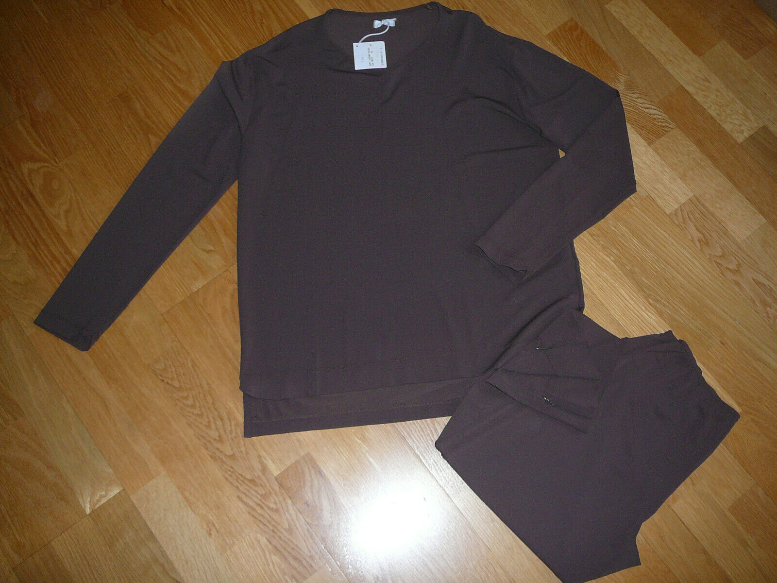 Virginia Damenhose- und Langarmoberteilkombination braun Gr. M neu