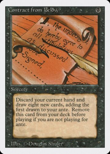 Contract from Below Revised NM-M Black Rare Reserved List MAGIC CARD ABUGames