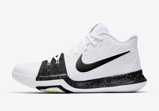 san francisco 24778 65109 Nike Kyrie 3 Tuxedo Oreo White Black Basketball Shoes Men's Size 15  917724-100