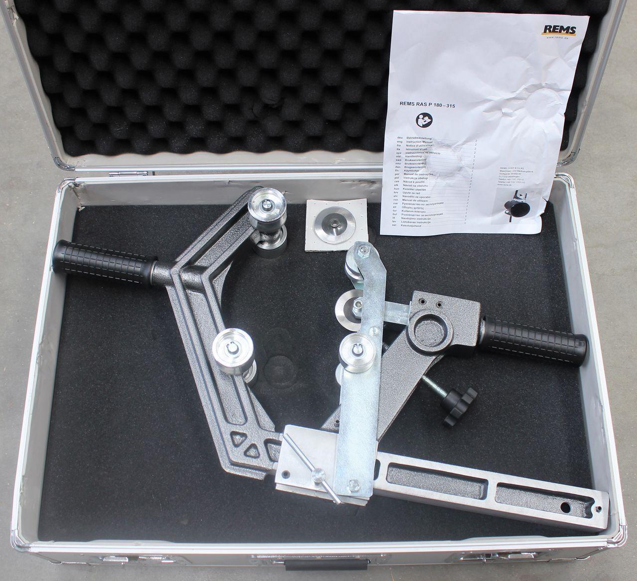 KS Tools 150.1505 Cortatubos de cadena para tubos de escape de acero fino