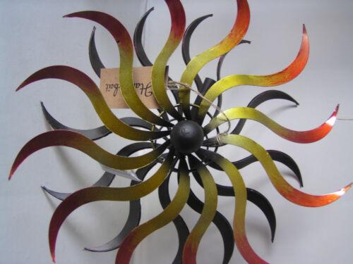 moulin à vent Moulin à vent métal Ø 38 cm Double-Chaleur décoration jardin carillon