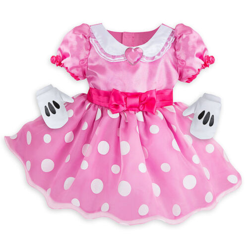 Disney Store Minnie Mouse Baby Costume Dress w// Gloves Size 3 6 12 18 24 Months