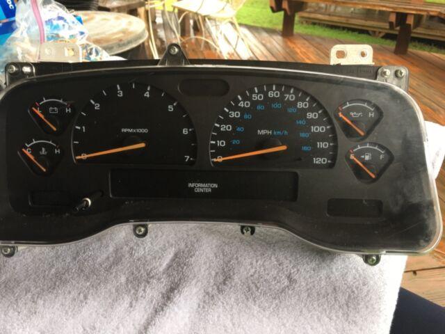 97 2000 Dodge Durango Instrument Cer Sdometer Tach Oem Odometer Preowned