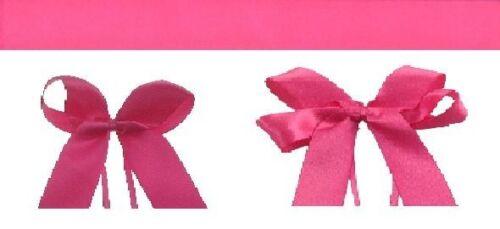 Hot Pink single face satin ribbon plain bowed or personalized you choose