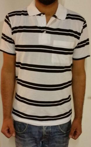 MENS GILLICCI SUMMER CASUAL STRIPED FASHION BRANDED COTTON POLO SHIRT T SHIRT