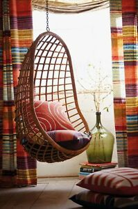 Hanging Cane Handmade Wicker Chair Swing Ebay