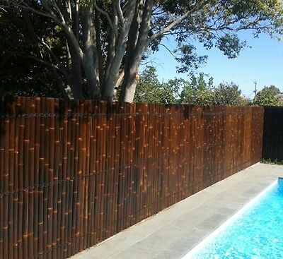 BAMBOO FENCE, FENCING PANEL 2.0m x 0.9m - BROWN/CREAM/2TONE MANUFACTURER DIRECT