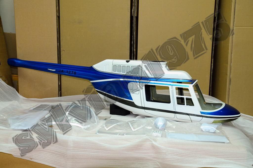 Jet Ranger -- fuselaje funkey escala para Nitro. 60 - .90 & EP 700 Tamaño Nuevo En Caja