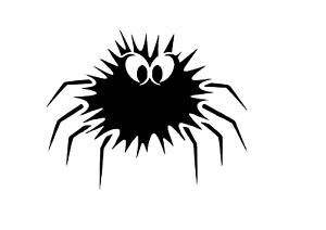 """Schablone /"""" Spinne mit Fell /"""" auf A4"""