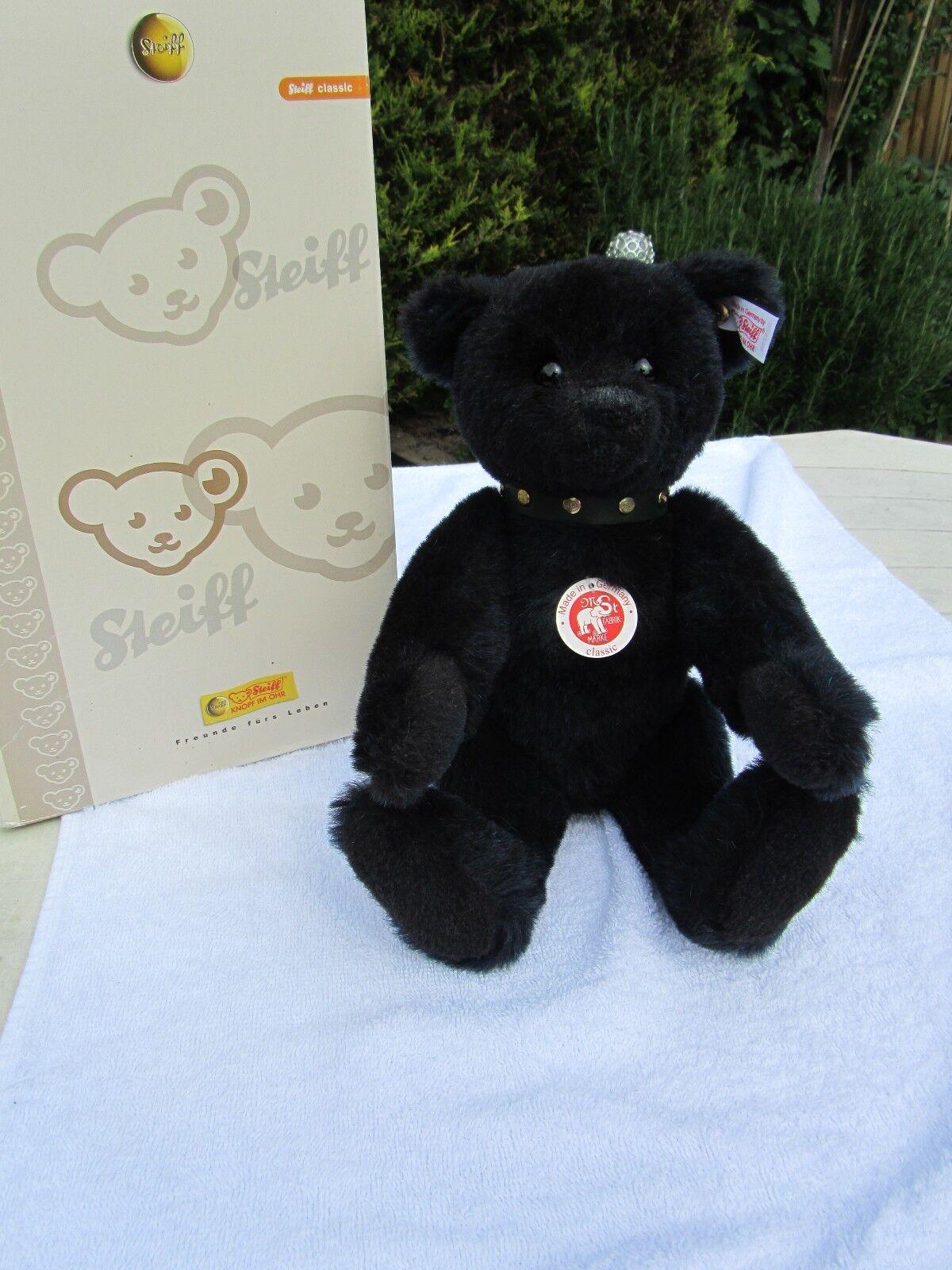 Steiff Classic Teddy Bear Blau schwarz Alpaca 038280 038280 038280 growler - Boxed Cert bff84e