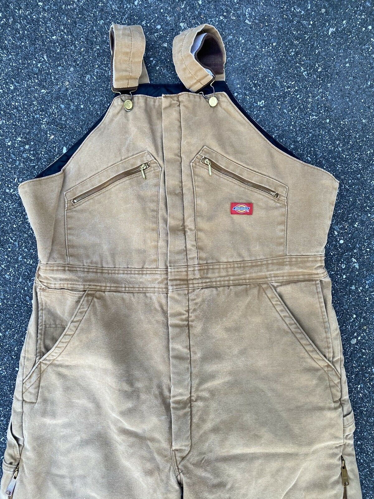 DICKIES INSULATED BIB OVERALLS DUCK BROWN SIZE 42… - image 2