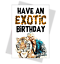 Tiger-King-Joe-Exotic-Birthday-Card-Funny-Carole-Baskin-wife-husband-mum-sister thumbnail 1