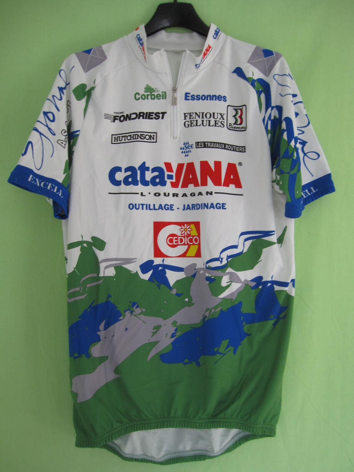 Maillot cycliste Catavana AS Corbeil Essonnes Cedico Tour 1994 Vintage - XXXL