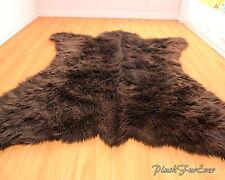 Fur Decor 5' x 6' New Bearskin Accent Lodge Faux Bear Throw Rug Shaggy Home
