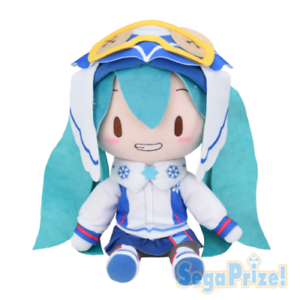 Sega Vocaloid Hatsune Miku SNOW 2016 Special Fluffy Plush Doll Toy US SELLER