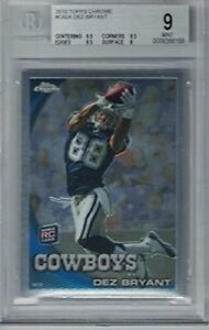 Details About Beckett Mint 9 2010 Topps Chrome Dez Bryant Rookie Card