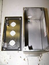 Lot of 4 Hoffman Stainless Steel Covers for E4PBXSS Push Button Enclosures