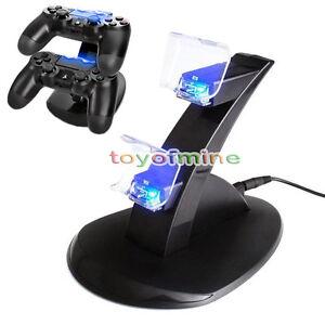 USB-LED-del-cargador-del-muelle-doble-para-el-controlador-de-PlayStation-PS4