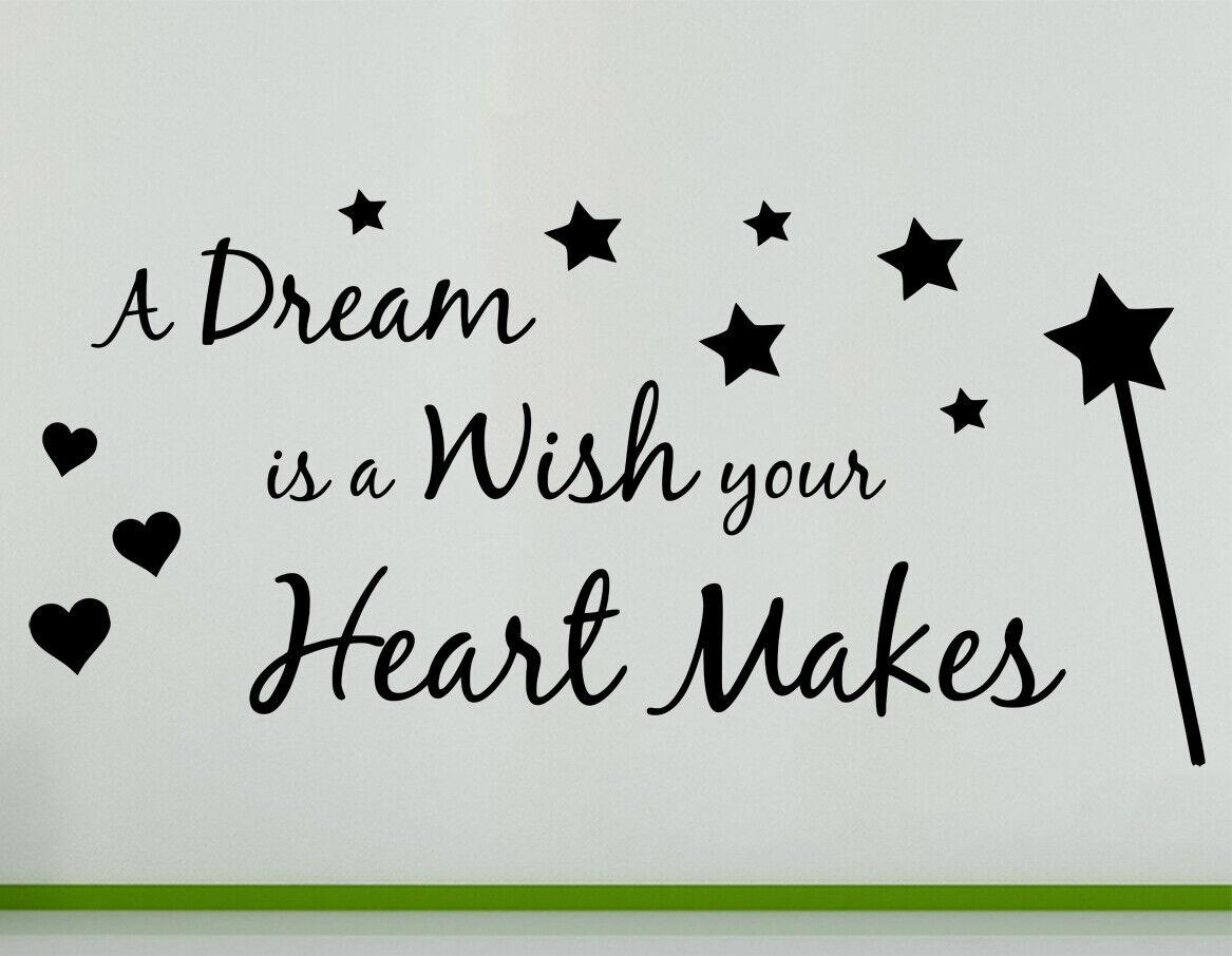 A Dream È un Wish Your Heart Makes - Citazione Stelle Parete Decalcomania