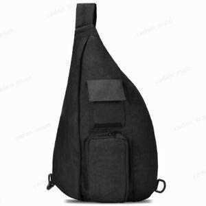 OSOCE-Men-Sling-Bag-Black-Waterproof-Shoulder-Chest-Crossbody-Bag-Backpack