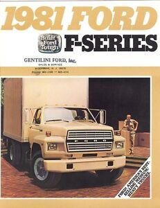 1981 ford f series truck brochure f 600 f 700 f 800 ebay. Black Bedroom Furniture Sets. Home Design Ideas