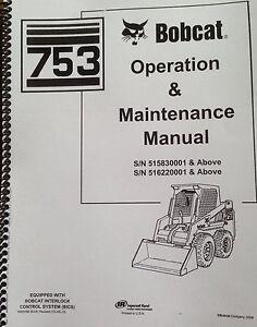 bobcat 753g 753 g operation maintenance manual book 6900969 rh ebay com bobcat lawn mower service manual bobcat mower owners manual for model 407777