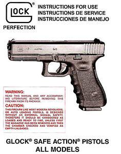 glock pistol owners instruction manual 17 19 20 21 22 23 24 25 26 rh ebay com glock 19 manual gen 5 glock 19 manual safety