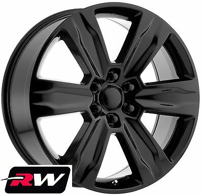 22 Rw Wheels For Ford F150 2015 2019 Platinum Style Gloss Black Rims 6x135 44 Ebay