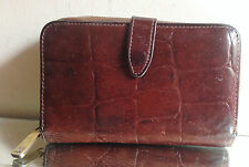 Mulberry Vintage Brown Congo Leather 3/4 Zip Around Wallet/Purse - VERY NICE!!