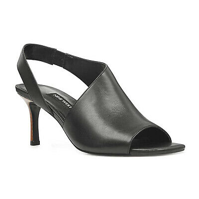 Nine West Leather Open Toe Peep Toe Orrus Sandal Shoes 2 8